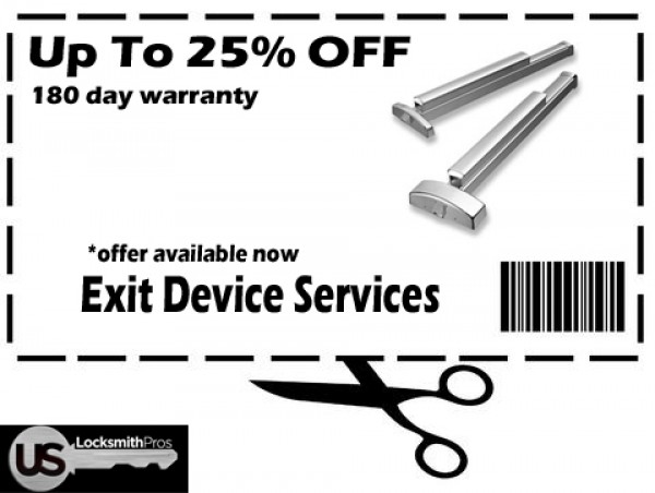 Up to 25% Off all Commercial Exit Devices in Denver CO