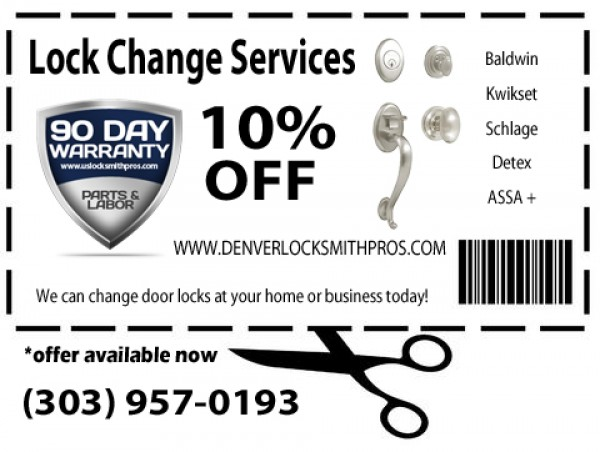 10% Off All Lock Changes in Denver CO!