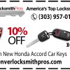 Save 10% with our Honda Accord car key coupons!
