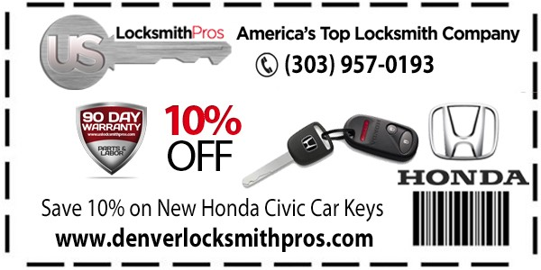 Check Out Our 10% Savings On All Honda Civic Key Replacements!