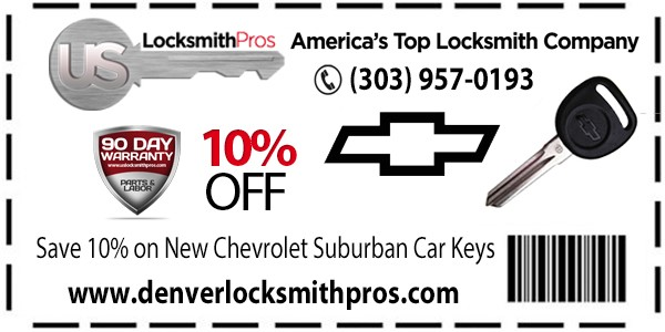 Chevrolet Suburban Key Replacement Savings Of 10%!